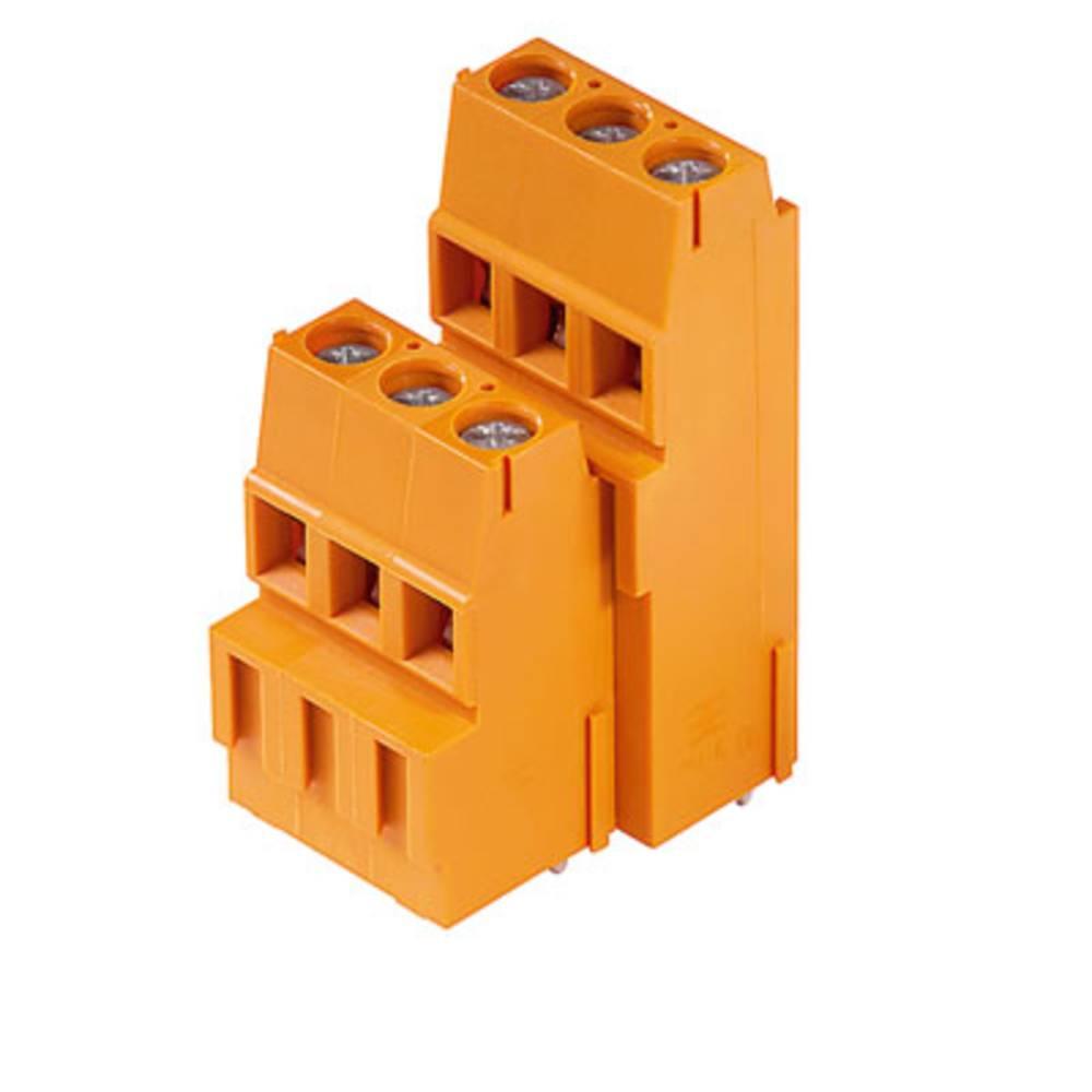 Dobbeltrækkeklemme Weidmüller LM2H 5.08/48/90 3.5SN OR BX 2.50 mm² Poltal 48 Orange 10 stk
