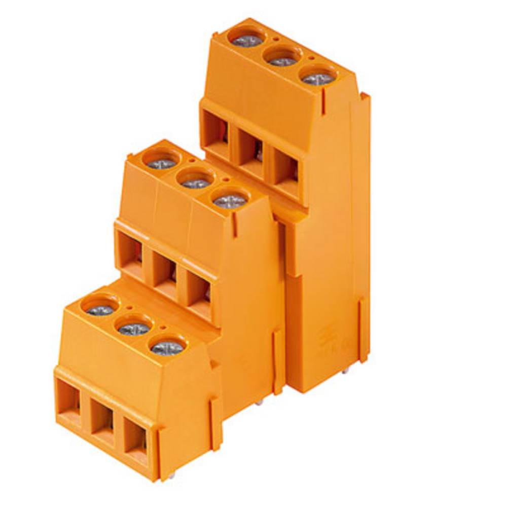 Tre-etagesklemme Weidmüller LM3R 5.08/18/90 3.5SN OR BX 2.50 mm² Poltal 18 Orange 25 stk