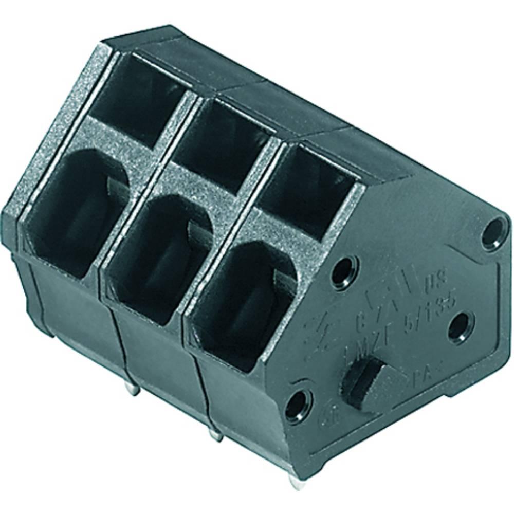 Fjederkraftsklemmeblok Weidmüller LMZF 5/3/135 3.5SW 2.50 mm² Poltal 3 Sort 100 stk