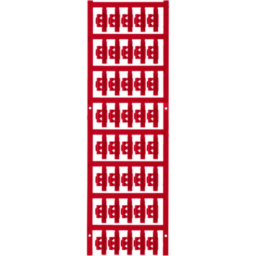 Markeringsophæng Weidmüller SFC 0/21 NEUTRAL RT 1813200000 200 stk Antal markører 200 Rød