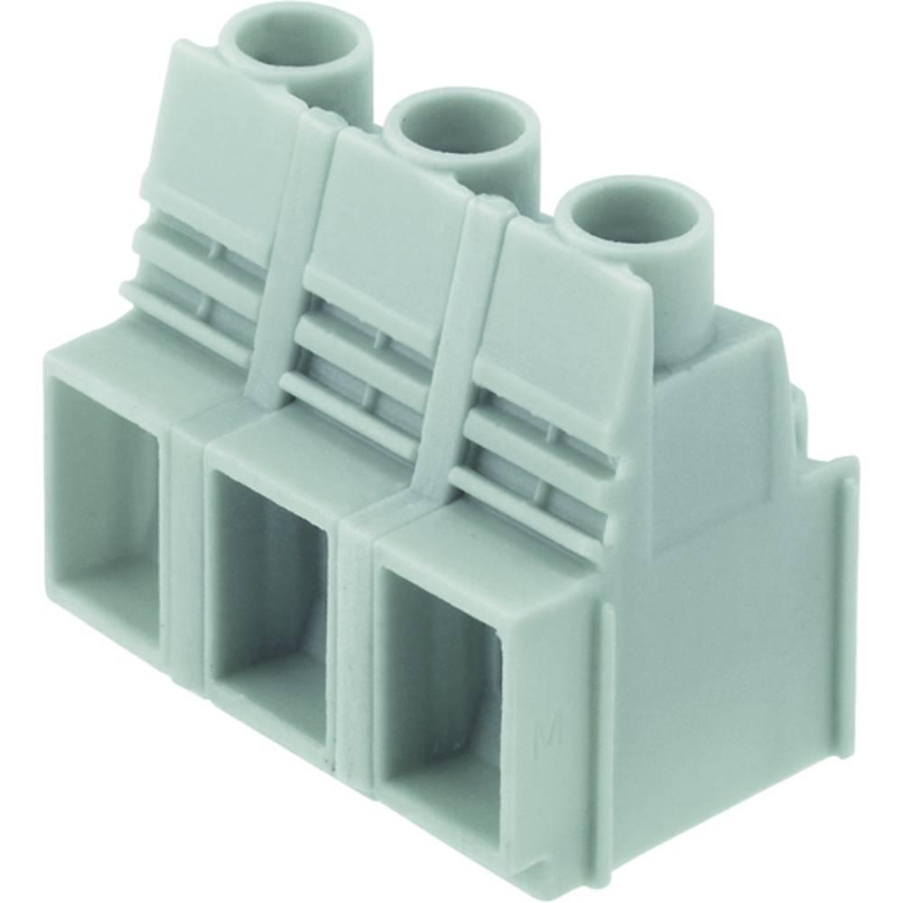 Skrueklemmeblok Weidmüller LUP 12.70/03/90 3.2SN GY BX 16.00 mm² Poltal 3 Grå 20 stk