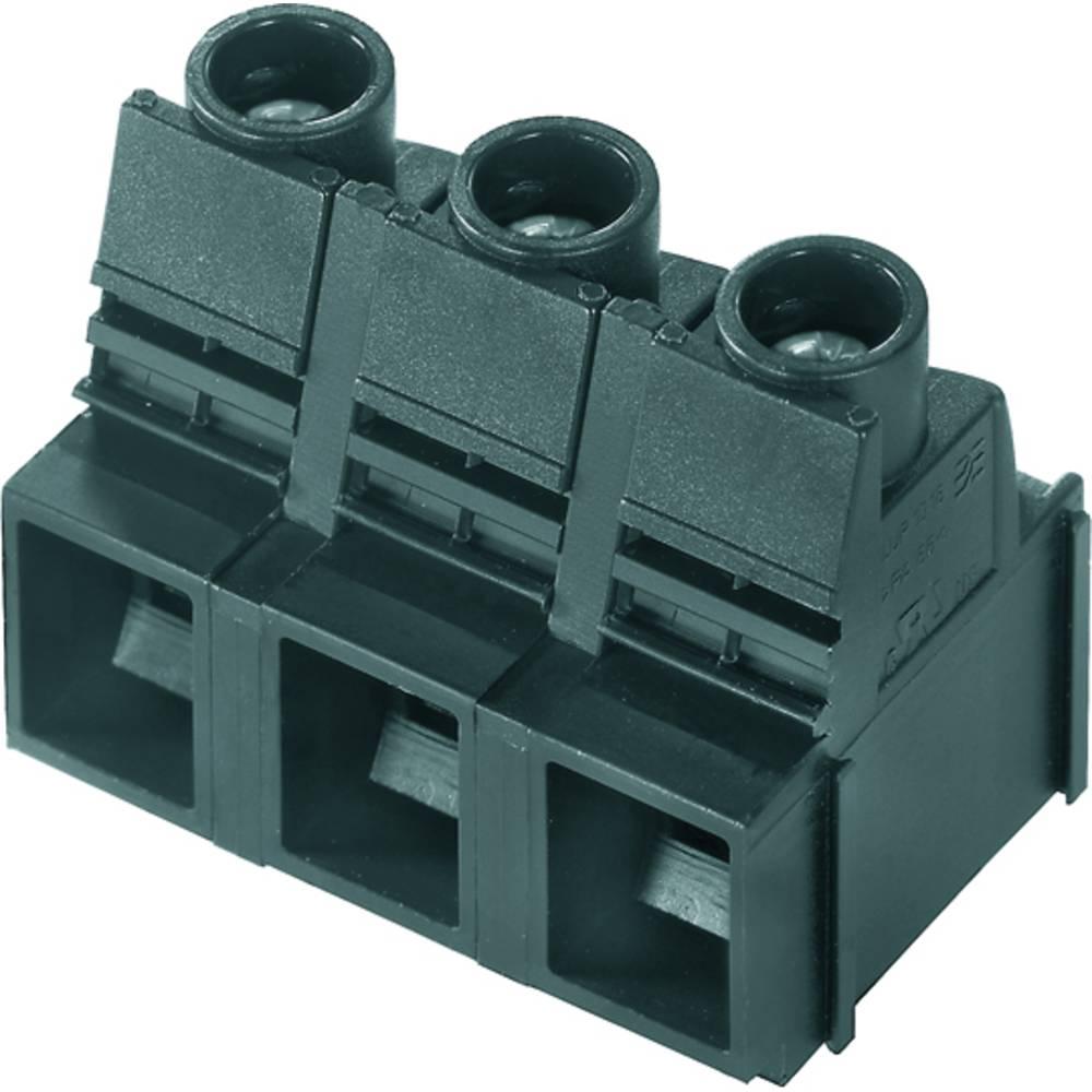 Skrueklemmeblok Weidmüller LUP 12.70/04/90 3.2SN GY BX 16.00 mm² Poltal 4 Grå 20 stk