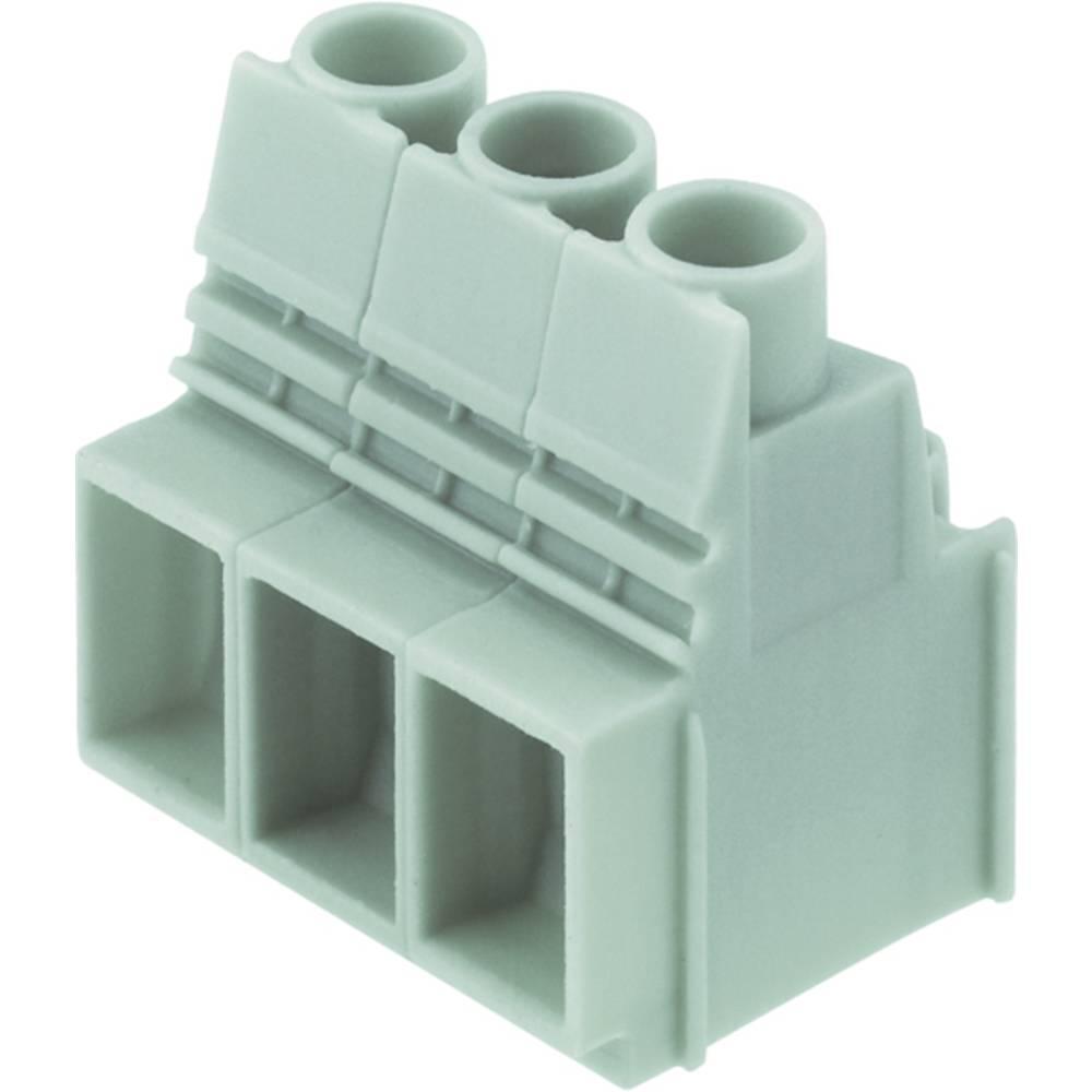 Skrueklemmeblok Weidmüller LUP 10.16/03/90 3.2SN GY BX 16.00 mm² Poltal 3 Grå 20 stk