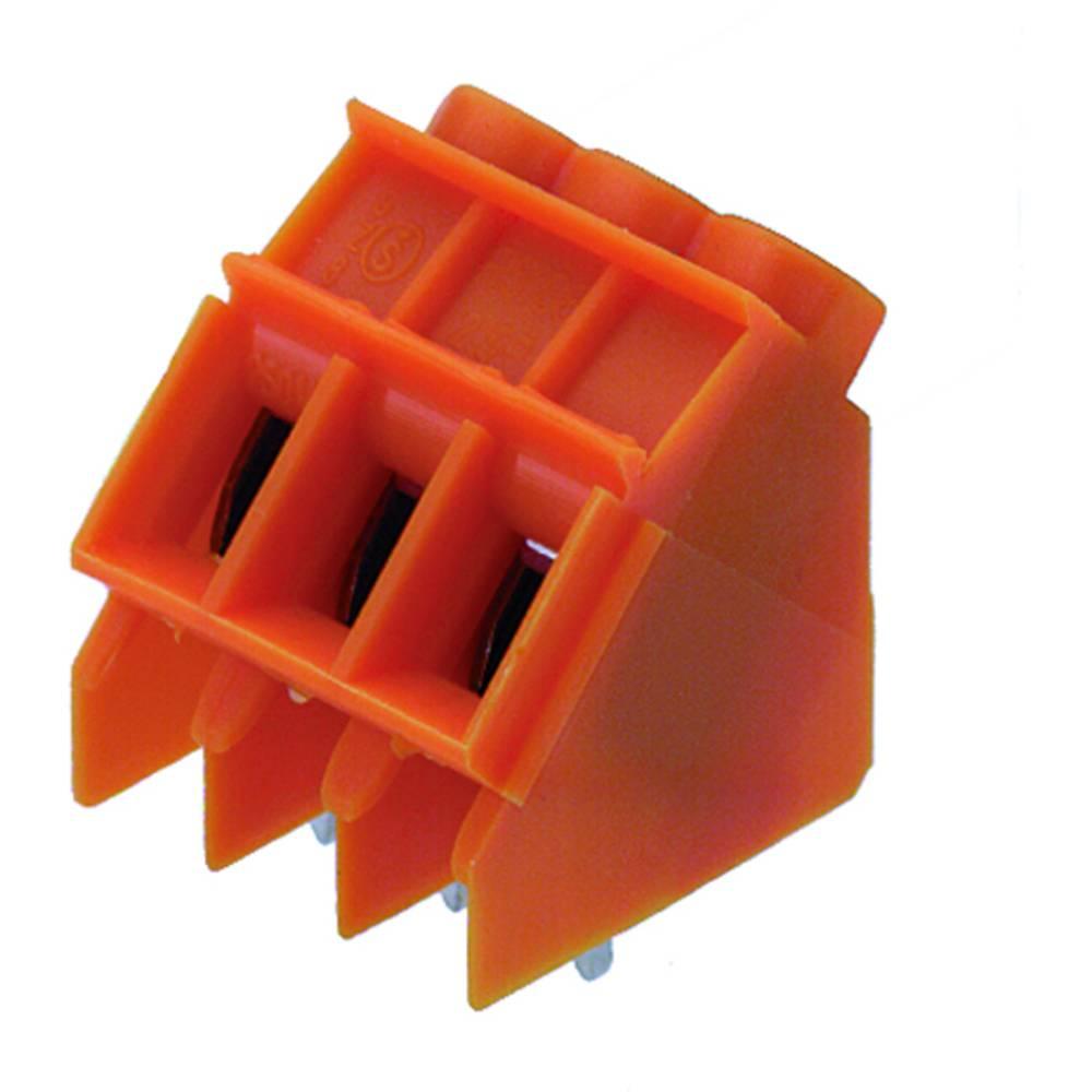 Skrueklemmeblok Weidmüller LP 5.08/07/135 3.2 OR 4.00 mm² Poltal 7 Orange 50 stk