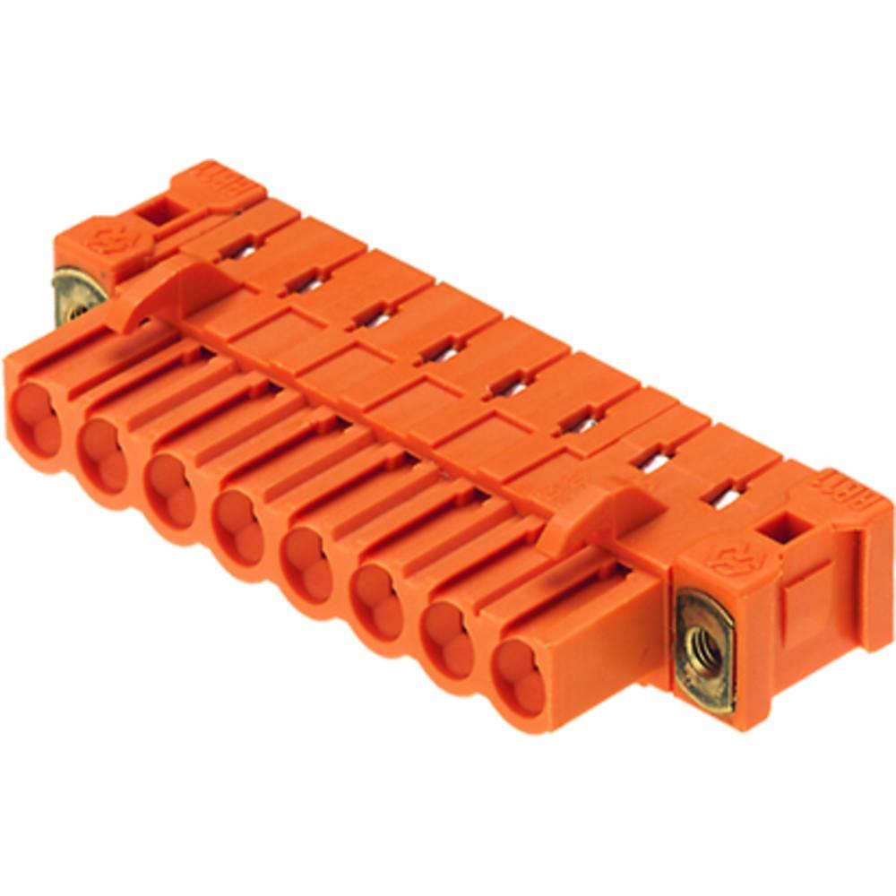 Vtični konektor za tiskana vezja oranžne barve Weidmüller 1843880000 vsebuje: 18 kosov