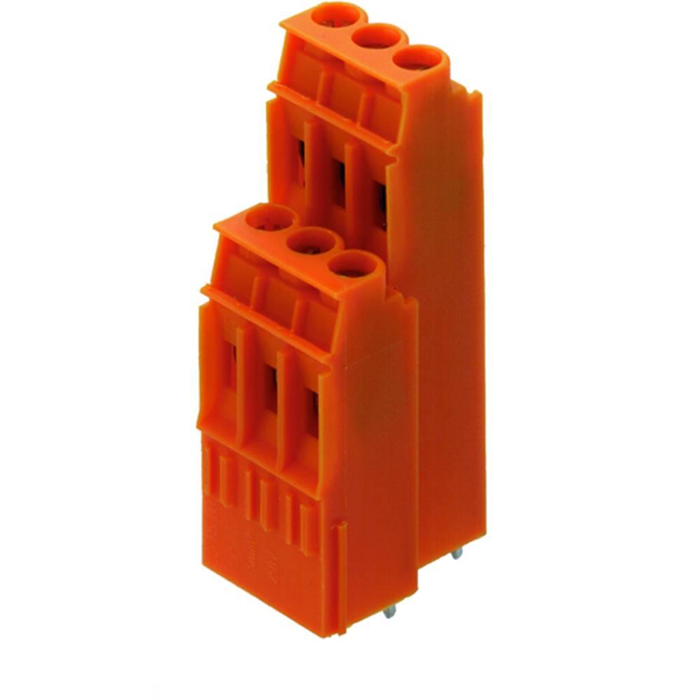 Dobbeltrækkeklemme Weidmüller LP2N 5.08/22/90 3.2SN OR BX 4.00 mm² Poltal 22 Orange 20 stk