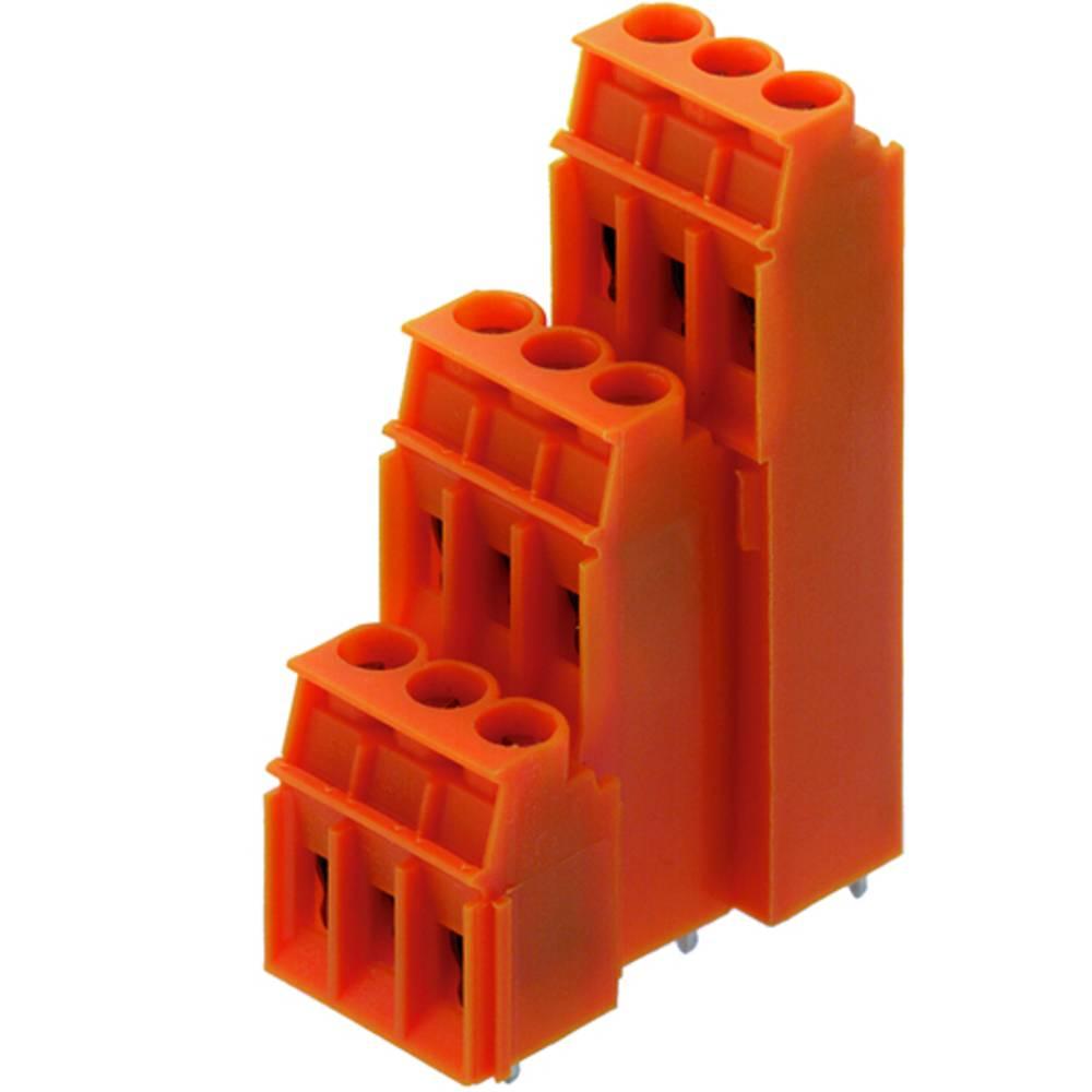 Tre-etagesklemme Weidmüller LP3R 5.08/45/90 3.2SN OR BX 4.00 mm² Poltal 45 Orange 10 stk