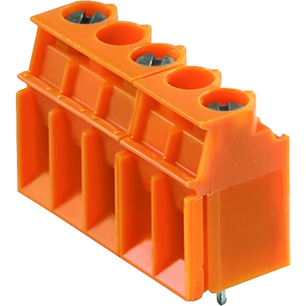 Skrueklemmeblok Weidmüller LP 10.16/02/90 3.2SN OR BX 4.00 mm² Poltal 2 Orange 100 stk