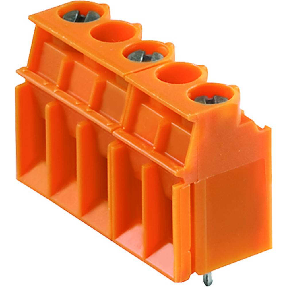 Skrueklemmeblok Weidmüller LP 10.16/04/90 3.2SN OR BX 4.00 mm² Poltal 4 Orange 50 stk