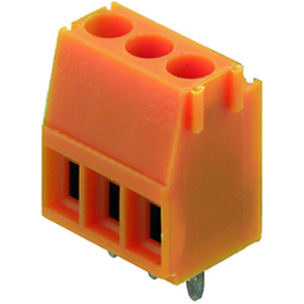 Skrueklemmeblok Weidmüller LM 3.50/07/90 3.2SN OR BX 1.50 mm² Poltal 7 Orange 50 stk
