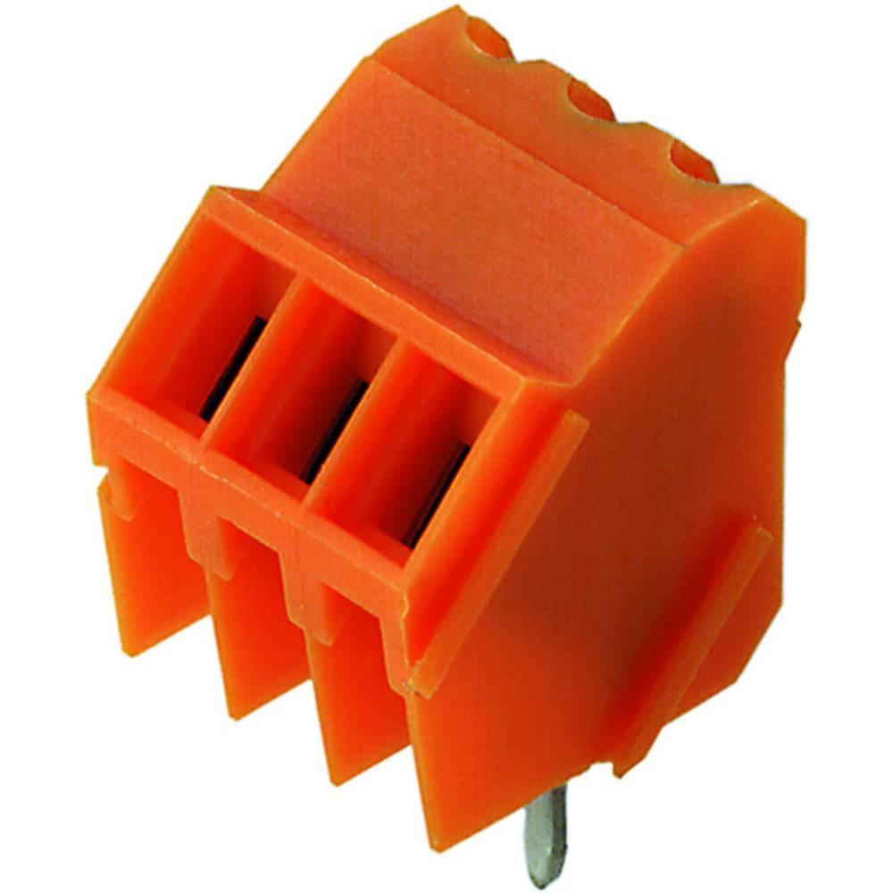 Skrueklemmeblok Weidmüller LM 3.50/06/135 3.2SN OR BX 1.50 mm² Poltal 6 Orange 50 stk