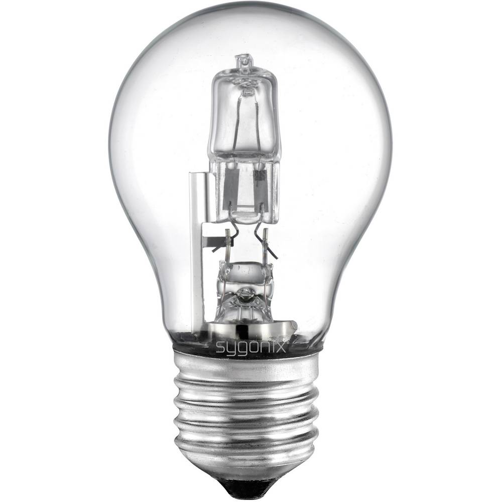 Eco halogenska žarnica Sygonix E27, 42 W = 60 W, topla bela, hruškasta oblika 28922D