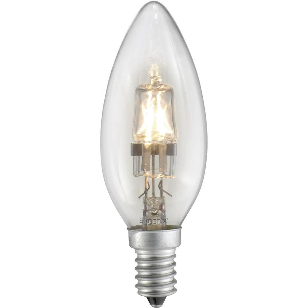 Eco halogenska žarnica Sygonix E14, 18 W = 25 W, topla bela, oblika sveče 28923Q