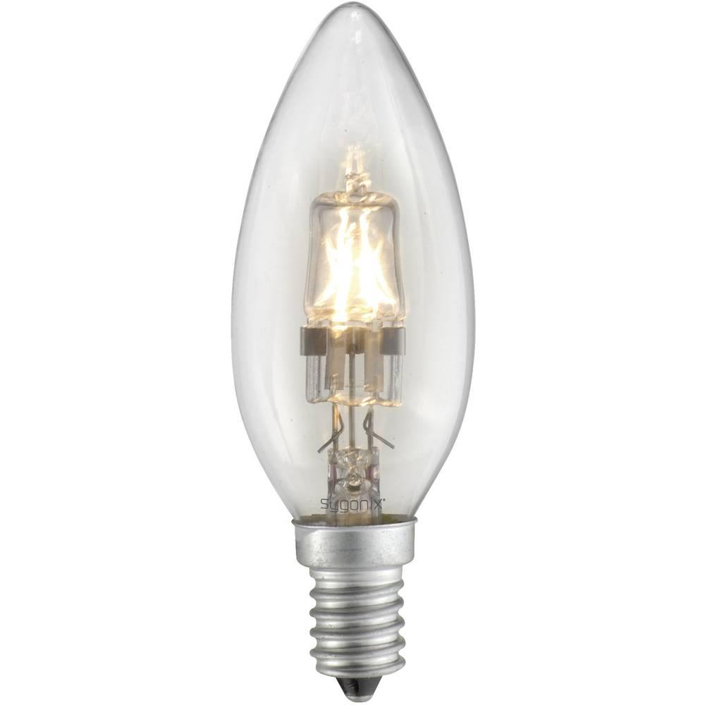Eco halogenska žarnica Sygonix E14, 28 W = 40 W, topla bela, oblika sveče 28923A