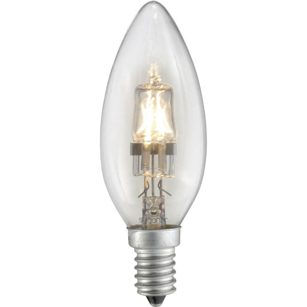 Eco halogenska žarnica Sygonix E14, 42 W = 60 W, topla bela, oblika sveče 28923Y