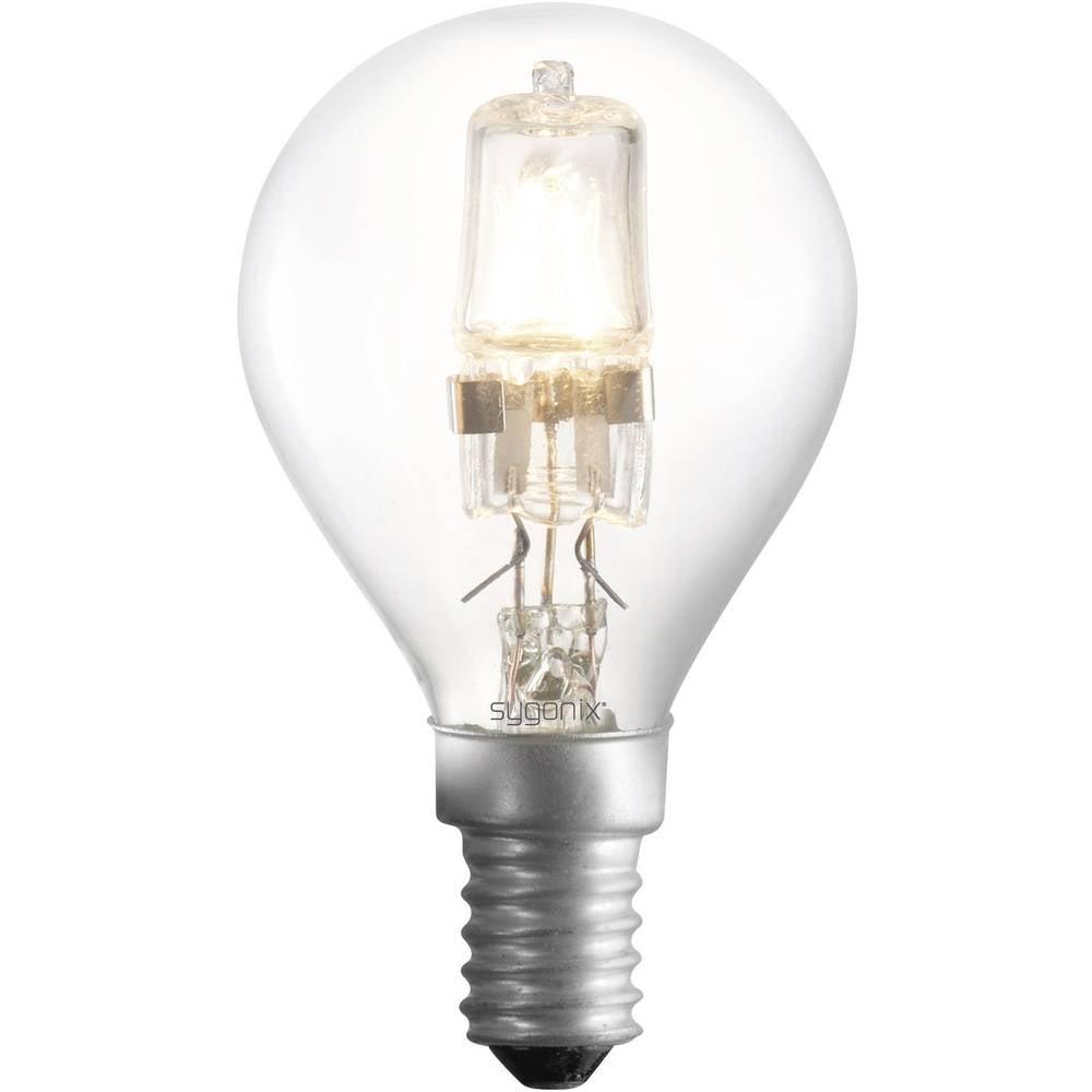 Eco halogenska žarnica Sygonix E14, 28 W = 42 W, topla bela, kapljasta oblika 28923R