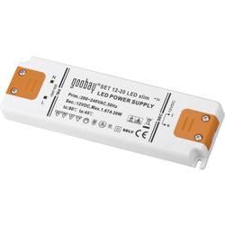 Goobay SET 12-20 LED slim LED gonilnik LED napajalnik 20 W 12 V/DC 1670 mA, konstantna napetost