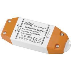 Goobay SET 12-15 LED LED Trafo LED napajalnik 15 W 12 V/DC 1250 mA, konstantna napetost