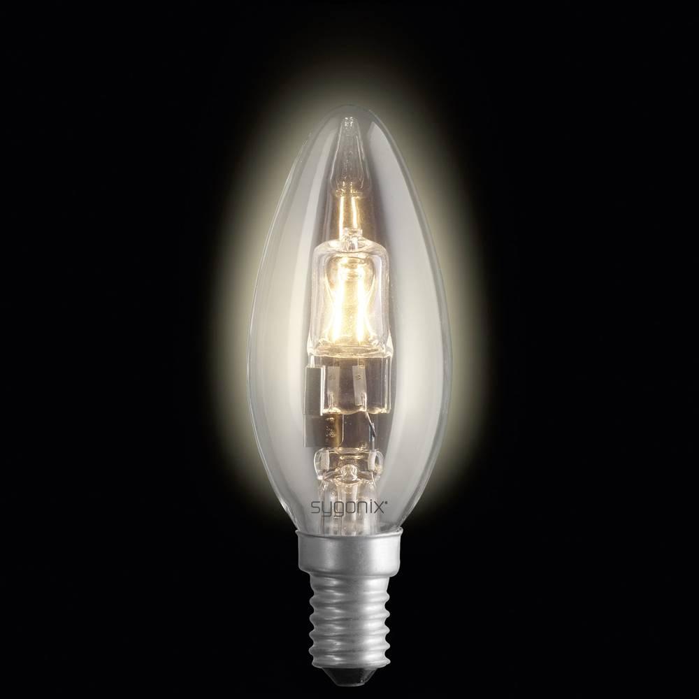 Eco halogenska žarnica Sygonix E14, 28 W = 40 W, topla bela, svetl., oblika sveče, 2 kosa 28987S
