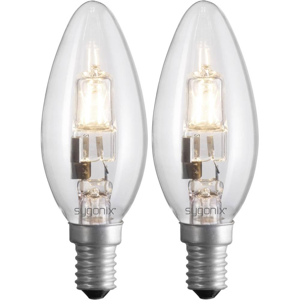 Eco halogenska žarnica Sygonix E14, 42 W = 60 W, topla belasvetl., oblika sveče, 2 kosa 28987X