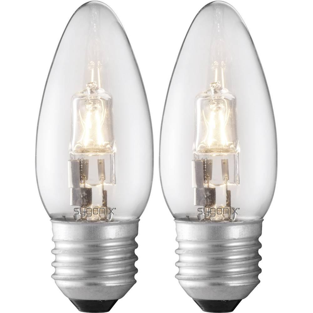 Eco halogenska žarnica Sygonix E27, 28 W = 40 W, topla belasvetl., oblika sveče, 2 kosa 28987D