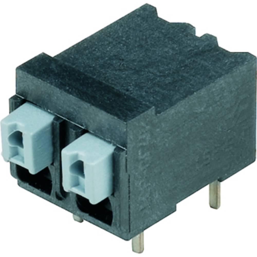 Fjederkraftsklemmeblok Weidmüller LSF-SMT 5.00/04/90 1.5SN BK RL 1.50 mm² Poltal 4 Sort 265 stk