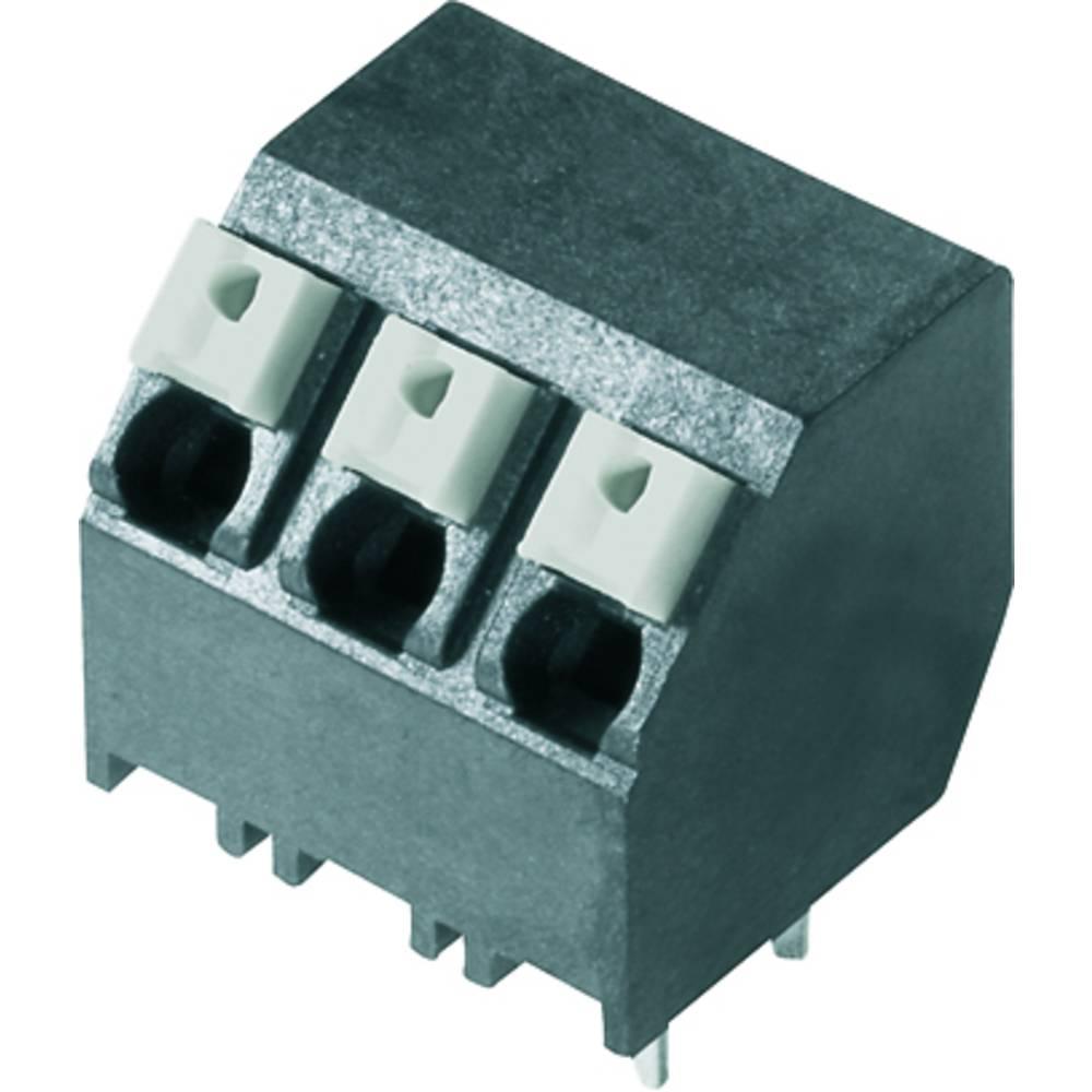 Fjederkraftsklemmeblok Weidmüller LSF-SMT 5.08/03/135 3.5SN BK TU 1.50 mm² Poltal 3 Sort 38 stk