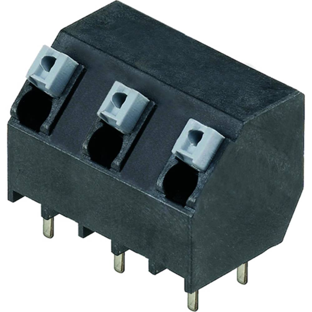 Fjederkraftsklemmeblok Weidmüller LSF-SMT 7.50/03/135 3.5SN BK TU 1.50 mm² Poltal 3 Sort 28 stk