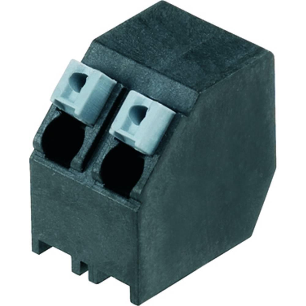 Fjederkraftsklemmeblok Weidmüller LSF-SMT 5.00/02/135 3.5SN BK RL 1.50 mm² Poltal 2 Sort 190 stk