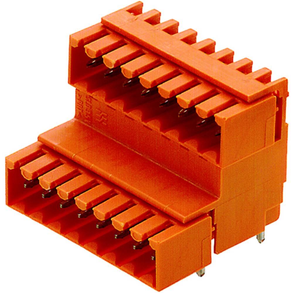 Vtični konektor za tiskana vezja oranžne barve Weidmüller 1890640000 vsebuje: 10 kosov