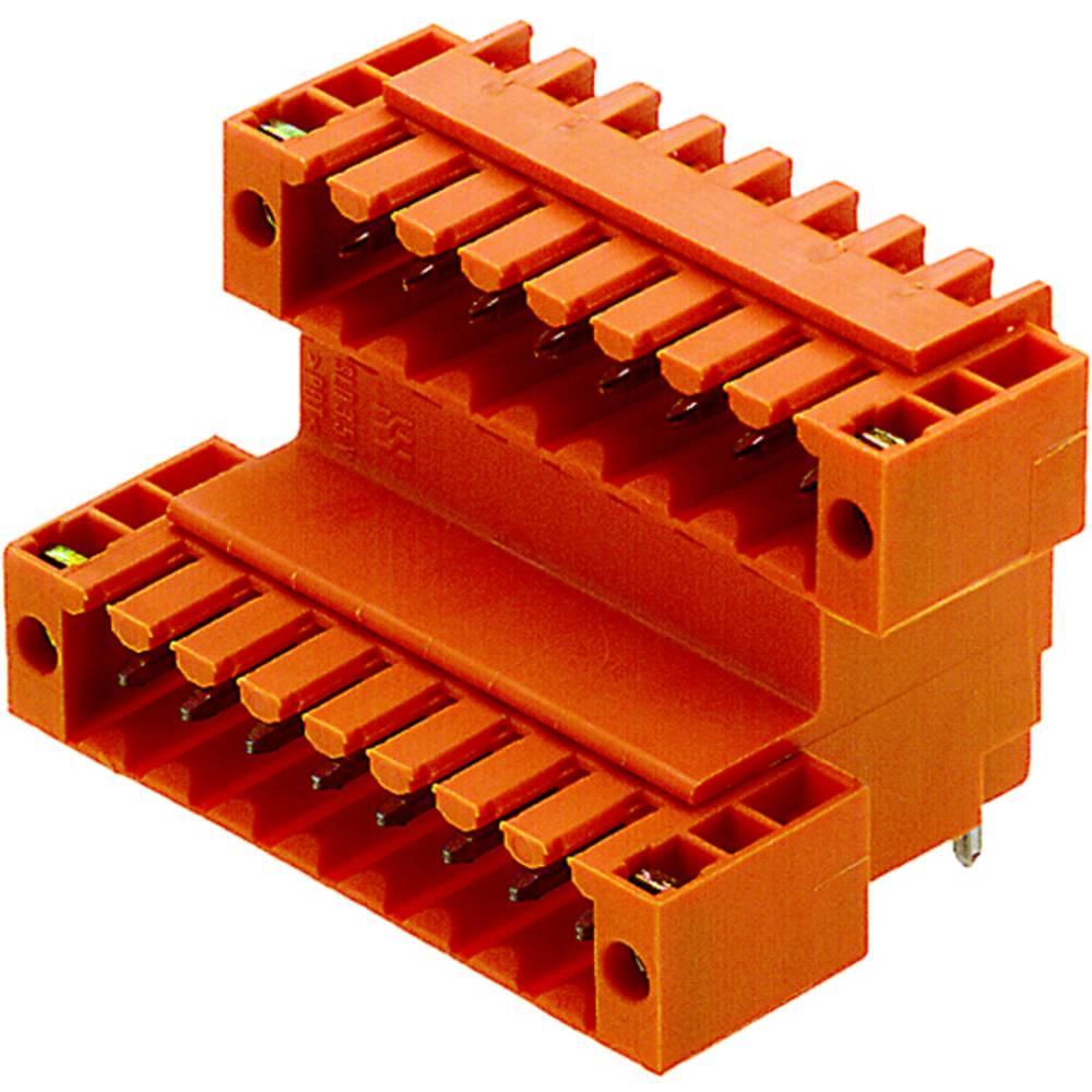 Vtični konektor za tiskana vezja oranžne barve Weidmüller 1890840000 vsebuje: 10 kosov