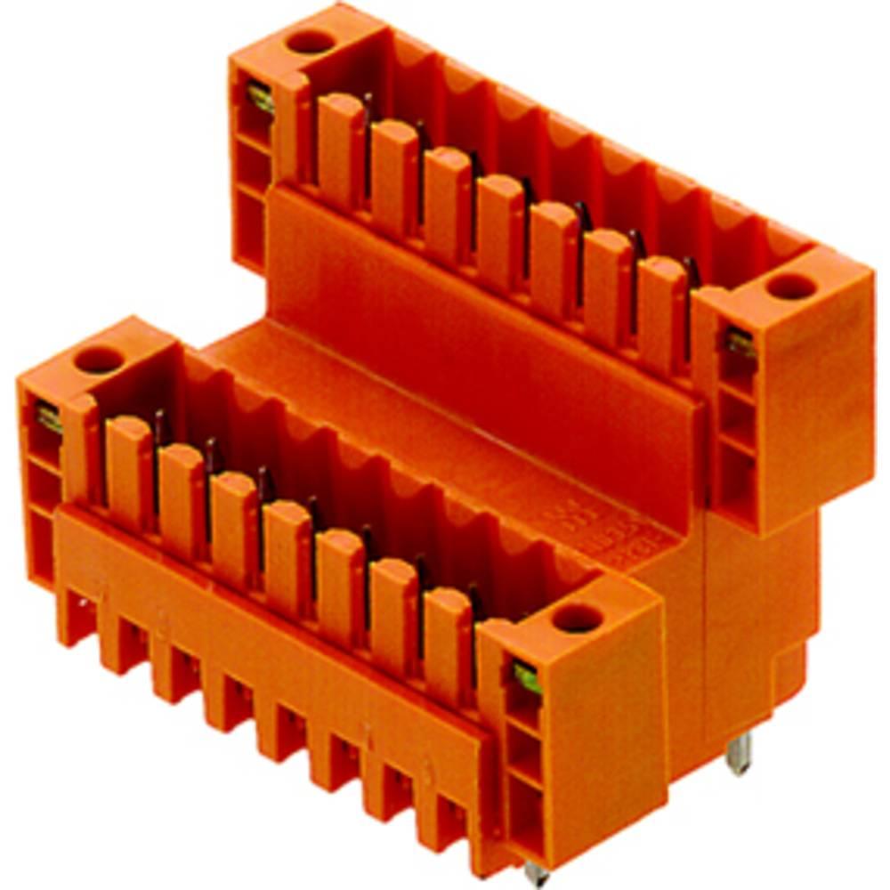Vtični konektor za tiskana vezja oranžne barve Weidmüller 1891160000 vsebuje: 10 kosov