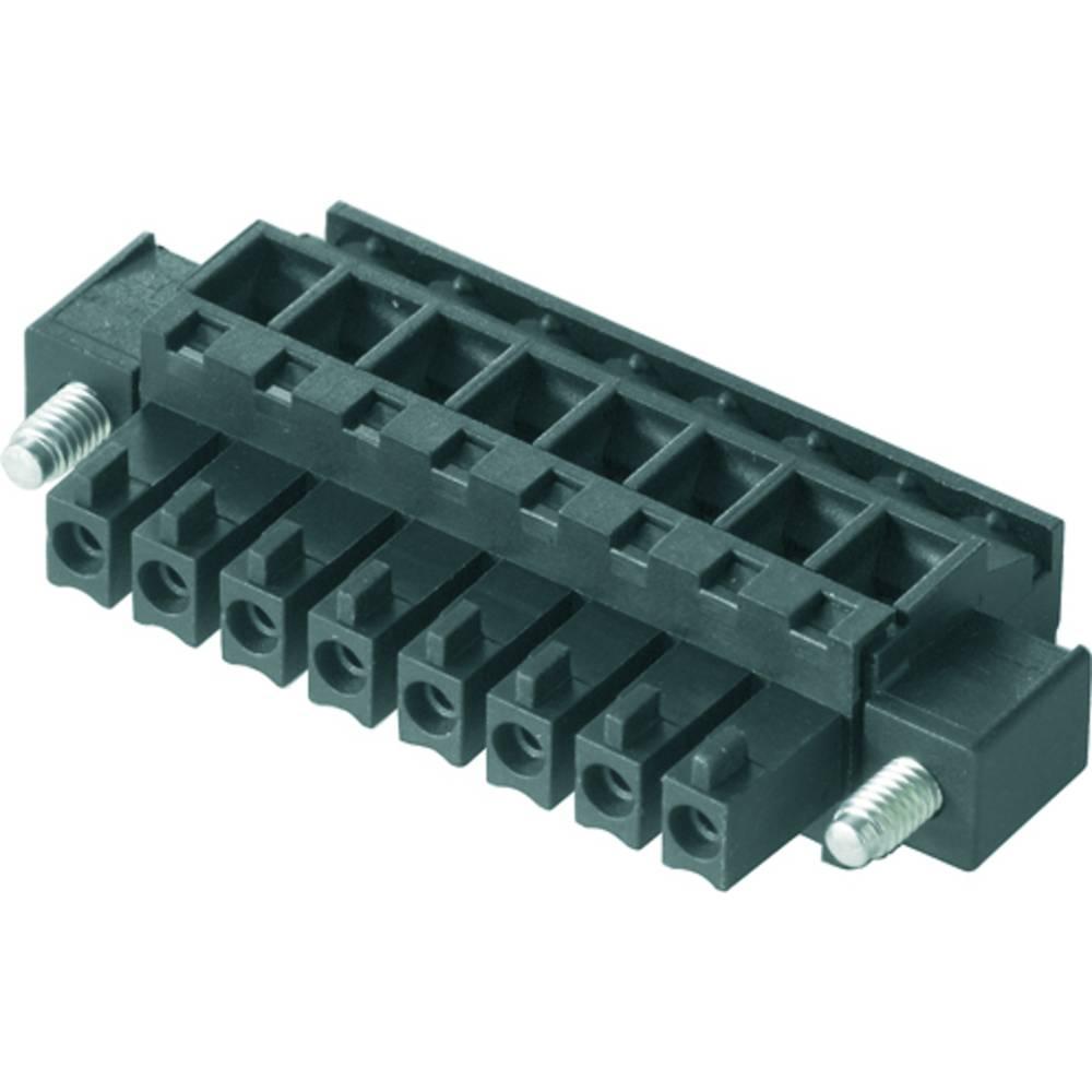 Tilslutningskabinet-kabel BC/SC (value.1360601) Samlet antal poler 9 Weidmüller 1899540000 Rastermål: 3.81 mm 50 stk