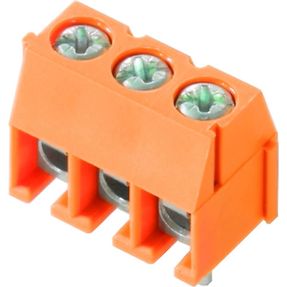 Skrueklemmeblok Weidmüller PS 3.50/03/90 3.5SN OR BX 1.50 mm² Poltal 3 Orange 100 stk