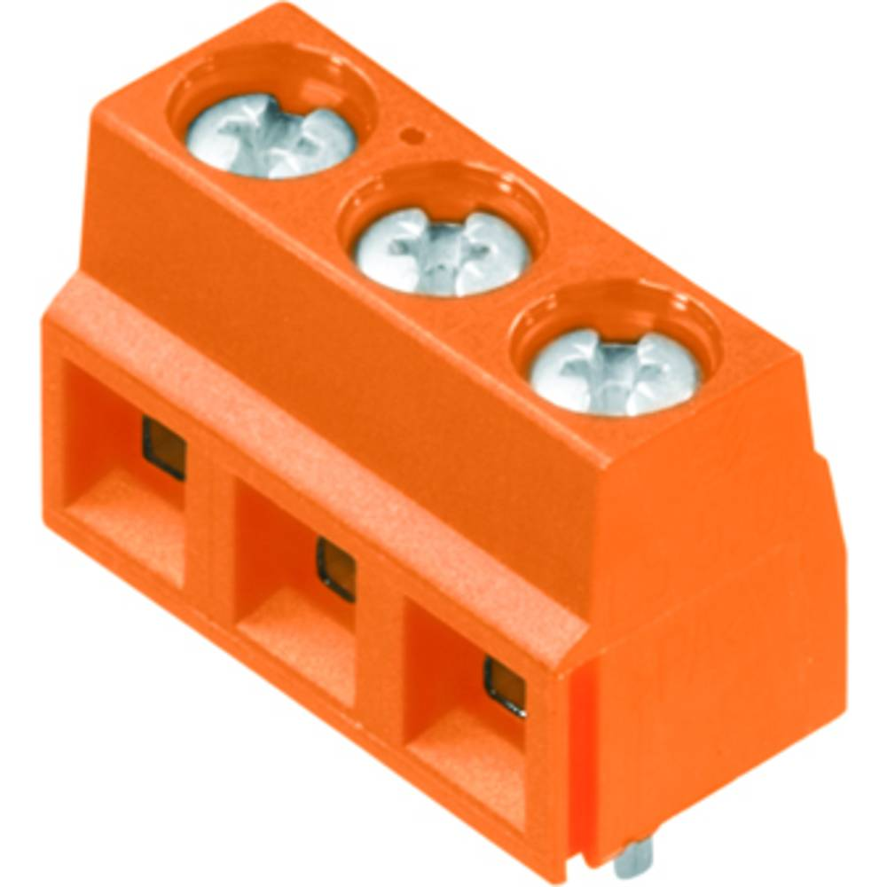 Skrueklemmeblok Weidmüller LS 5.08/03/90 3.5SN OR BX 1.50 mm² Poltal 3 Orange 100 stk