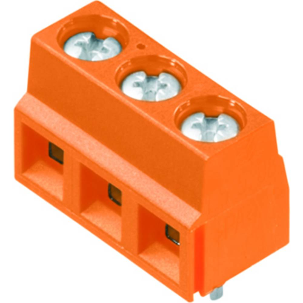 Skrueklemmeblok Weidmüller LS 5.08/04/90 3.5SN OR BX 1.50 mm² Poltal 4 Orange 100 stk