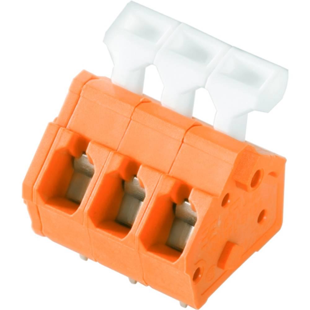 Fjederkraftsklemmeblok Weidmüller LMZFL 5/2/135 3.5OR 2.50 mm² Poltal 2 Orange 100 stk