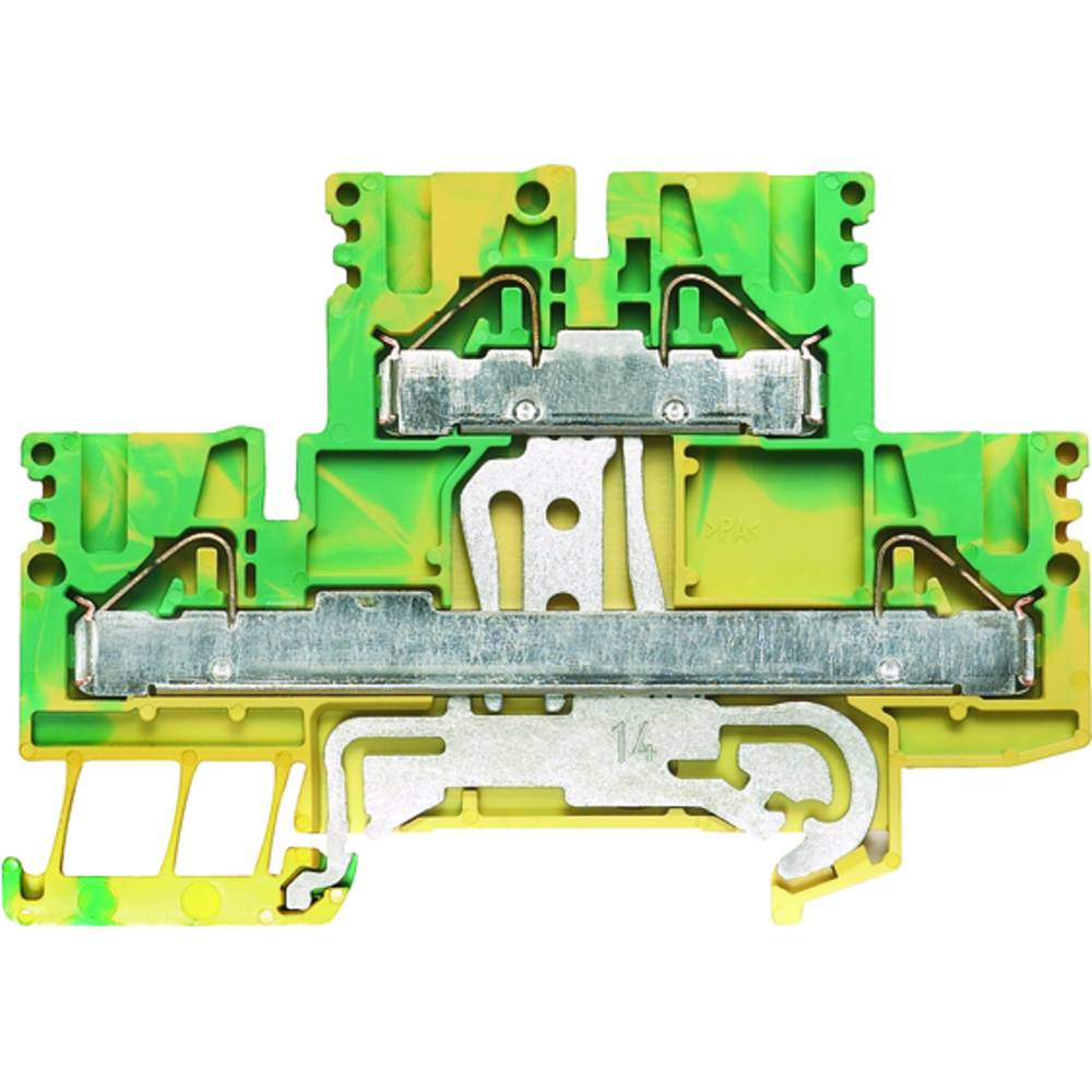 Beskyttende leder klemrække, dobbelt-tier modulopbygget terminal Weidmüller PDK 2.5/4 PE 1918710000 50 stk