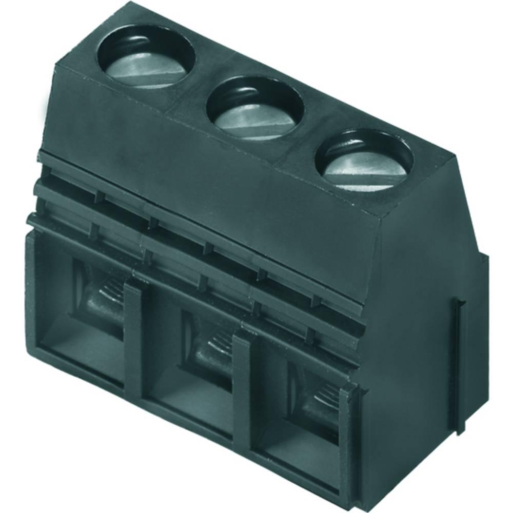 Skrueklemmeblok Weidmüller LU 10.16/03/90 4.5SN BK BX 16.00 mm² Poltal 3 Sort 20 stk