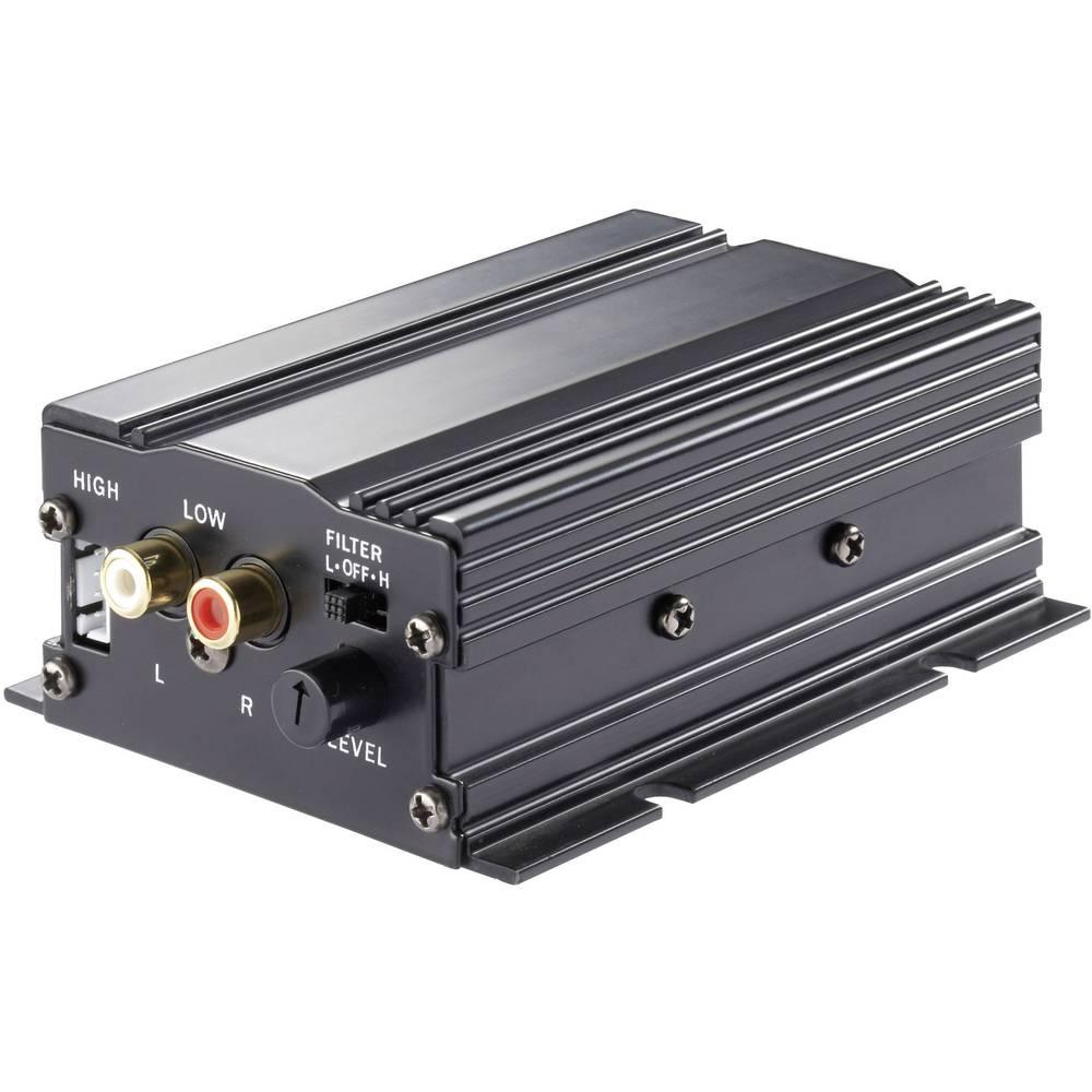 2-kanals slutsteg Basetech AP-2100 100 W Svart