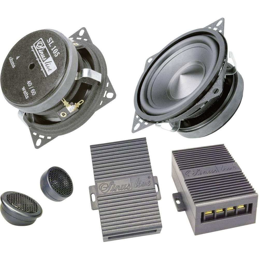 Komplet 2-sistemskih vgradnih zvočnikov za avtomobile 100 W Sinuslive SL-105