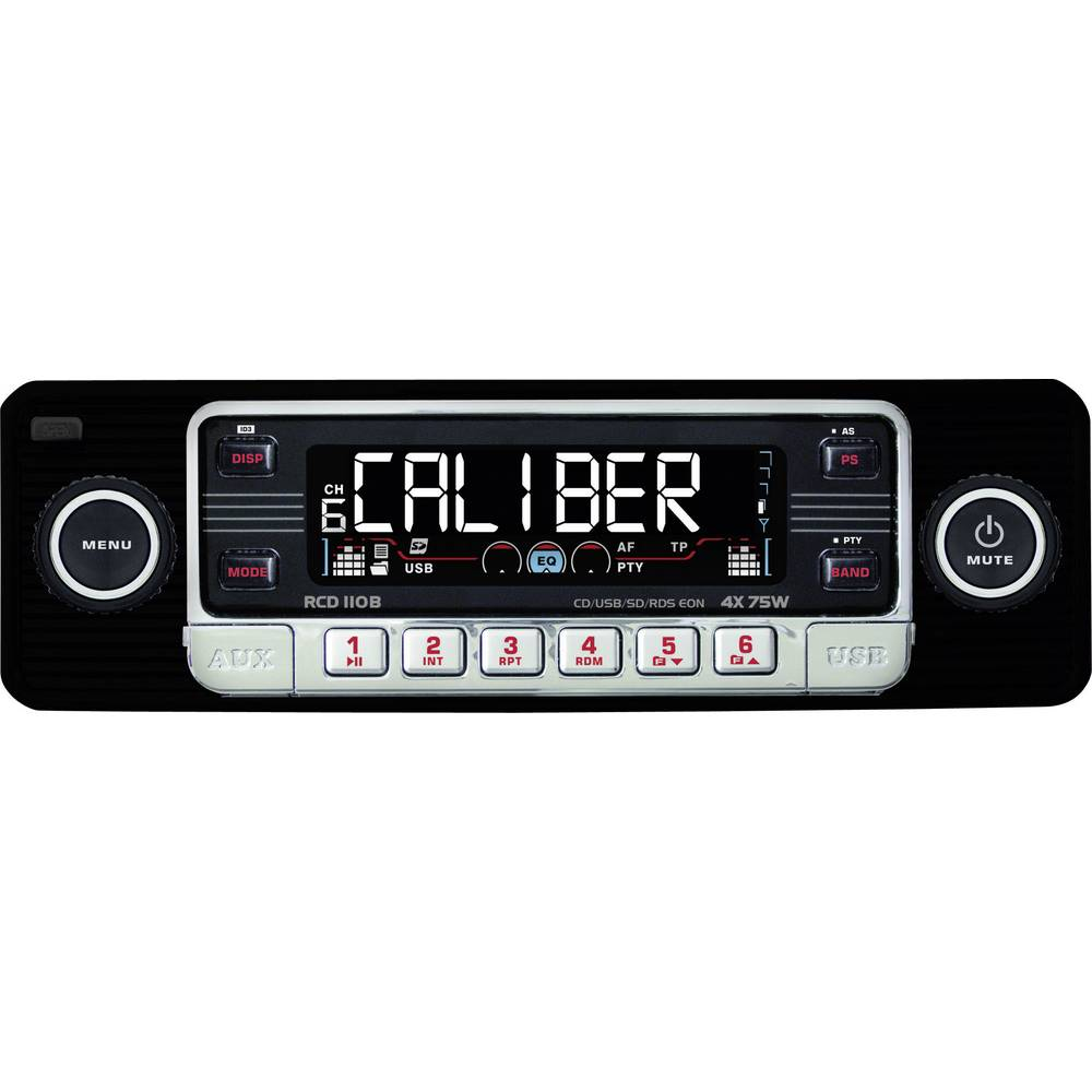 Bilradio Caliber Audio Technology RCD-110 Schwarz Retro design