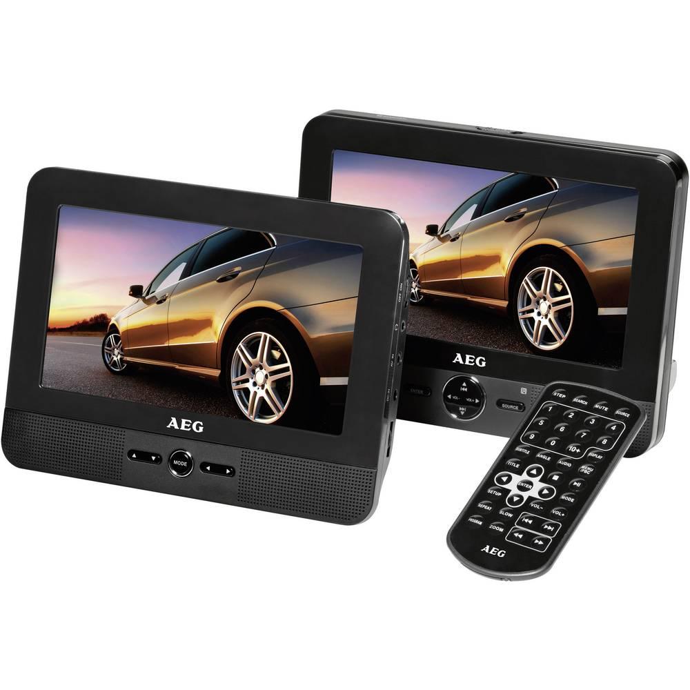 Avtomobilski DVD predvajalnik vgrajen v naslonjalo za glavo z dvema zaslonoma AEG DVD4551LCD
