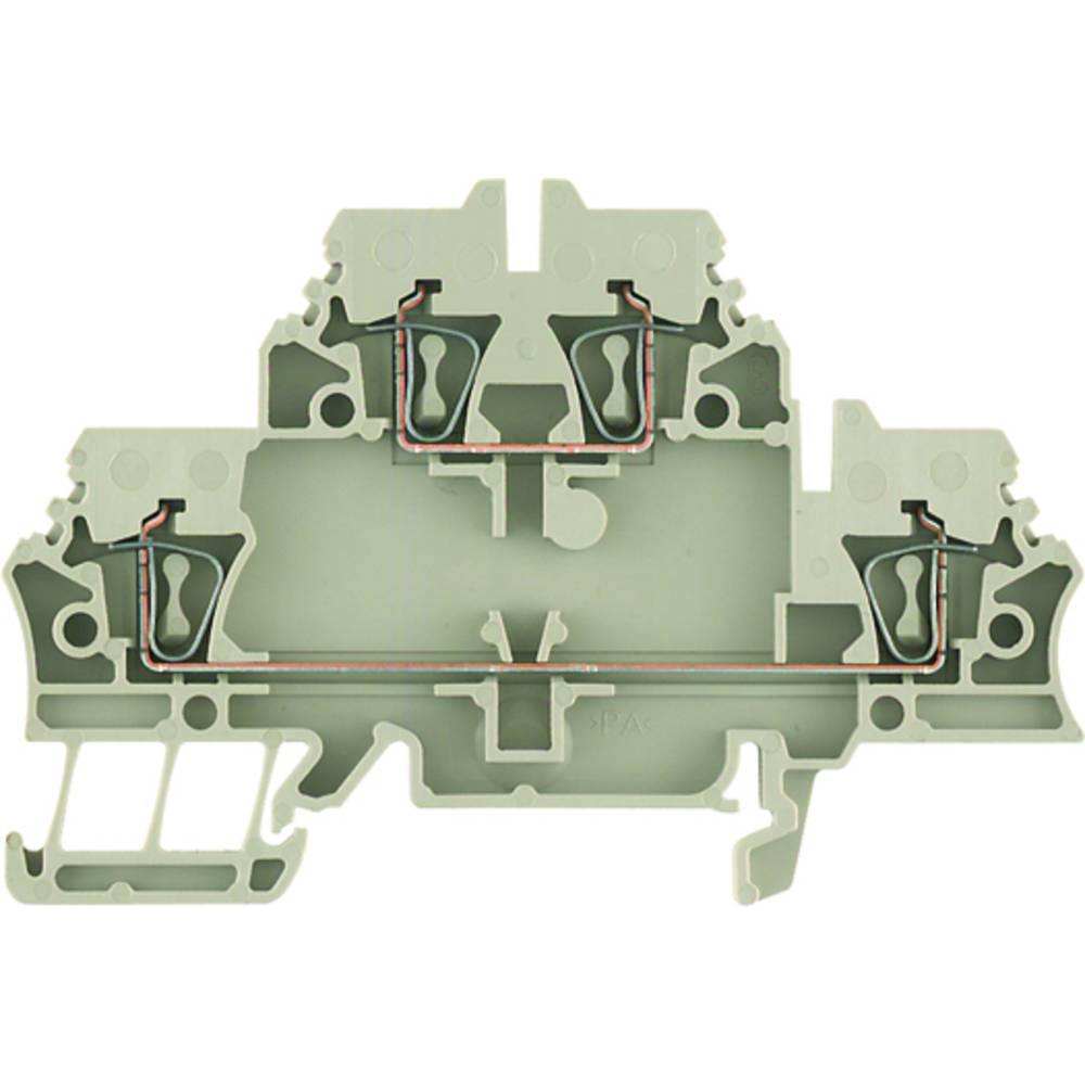 Dobbelt-niveau modulopbygget terminal Weidmüller ZDK 2.5/3AN V BL 1924480000 50 stk