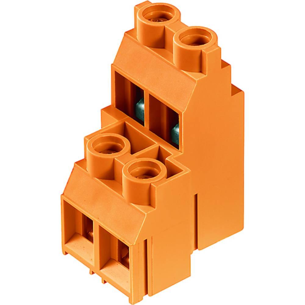 Dobbeltrækkeklemme Weidmüller LL2N 9.52/24/90 5.0SN OR BX 4.00 mm² Poltal 24 Orange 5 stk