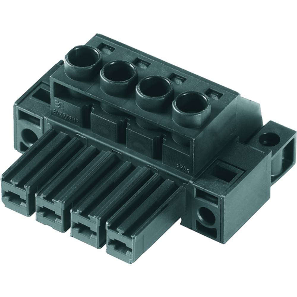 Tilslutningskabinet-kabel BV/SV (value.1360606) Samlet antal poler 4 Weidmüller 1929760000 Rastermål: 7.62 mm 100 stk
