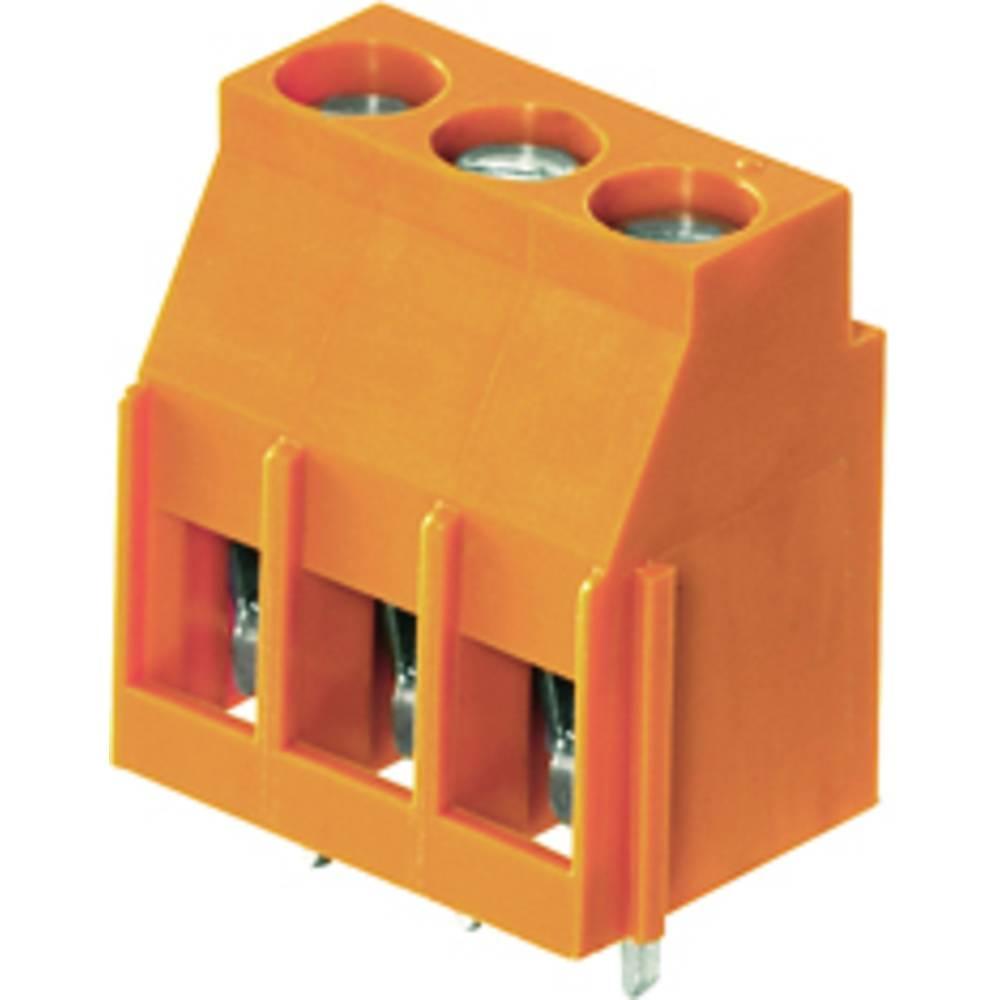 Skrueklemmeblok Weidmüller LL 5.00/03/90 3.2SN OR BX 4.00 mm² Poltal 3 Orange 100 stk