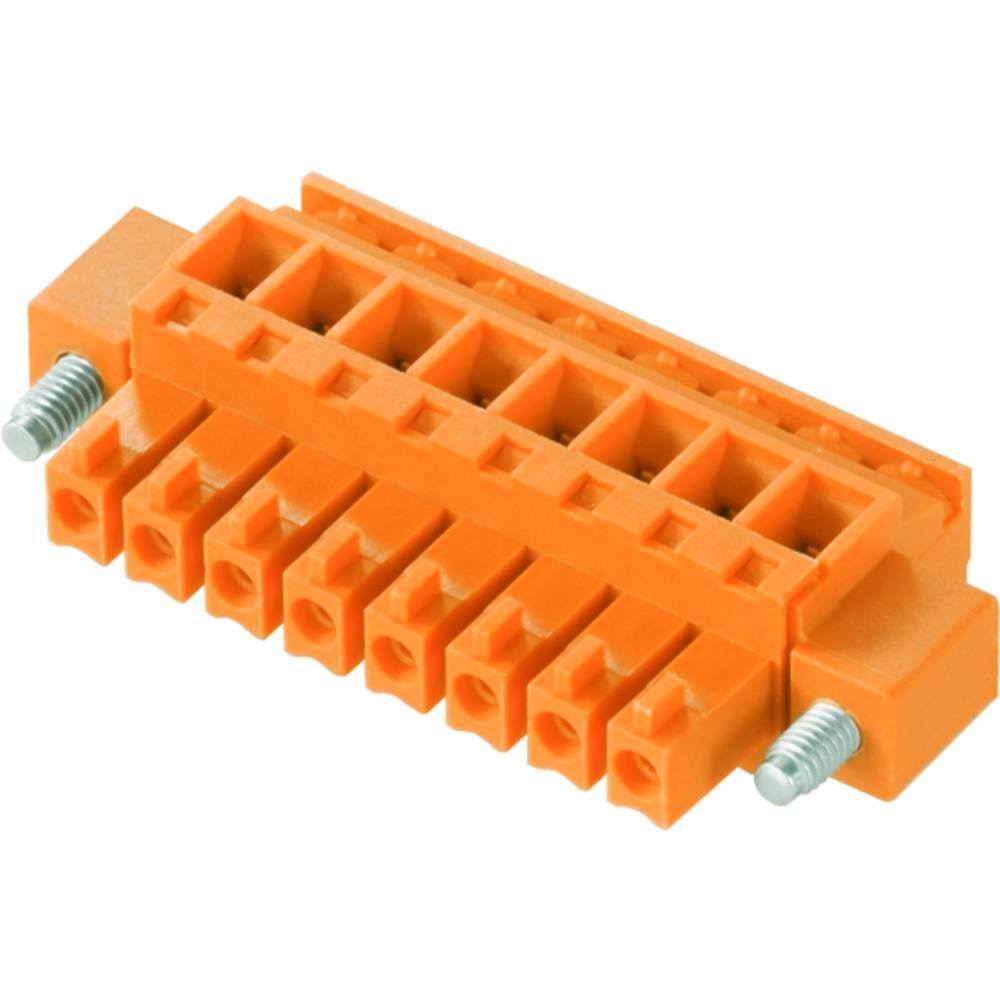 Tilslutningskabinet-kabel BC/SC (value.1360601) Samlet antal poler 8 Weidmüller 1940040000 Rastermål: 3.81 mm 50 stk