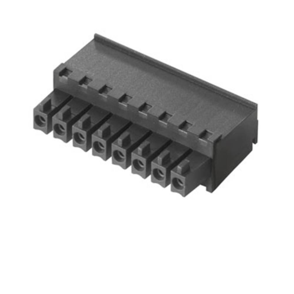 Tilslutningskabinet-kabel BC/SC (value.1360601) Samlet antal poler 9 Weidmüller 1940350000 Rastermål: 3.81 mm 50 stk