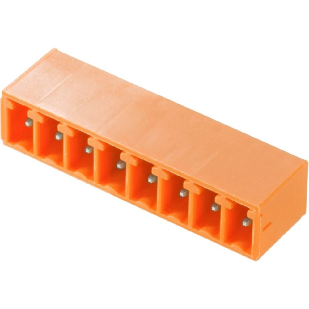 Vtični konektor za tiskana vezja oranžne barve Weidmüller 1942180000 vsebuje: 50 kosov